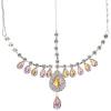 Head Jewellery Drop Pink Aurora Borealis